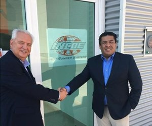 INCOE General Manager Kurt Curtis (left) with Country Manager Isaac Gomez (right) outside of new Querétaro facility