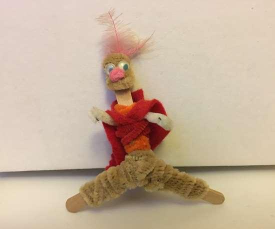 popsicle stick action figure