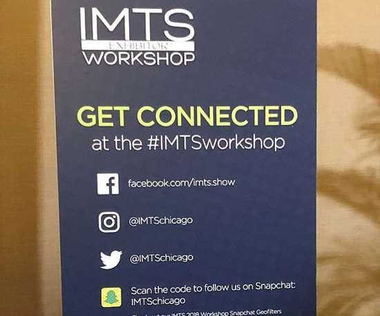 Signage at IMTS 2018 Exhibitor Workshop