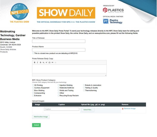 NPE Show Daily product portal