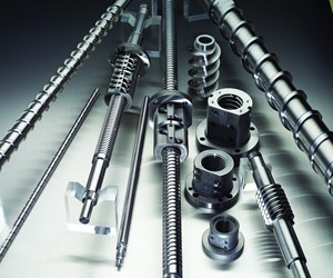 A group of ballscrews in a variety of sizes