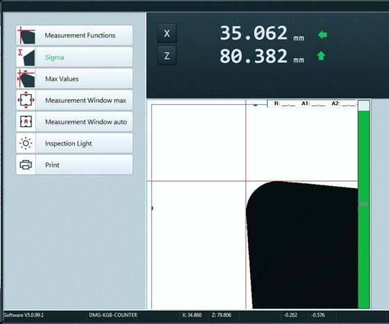 Screenshot of presetter software