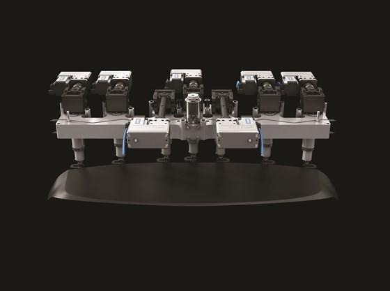 Example of servo-controlled valve gate hot runner system from HRS Flow.