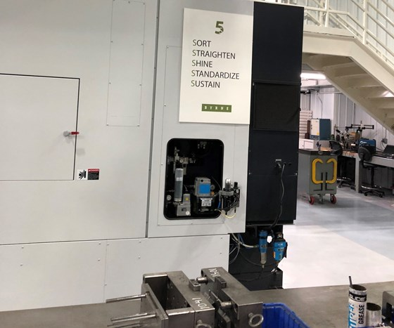 5S signage in a moldmaking facility