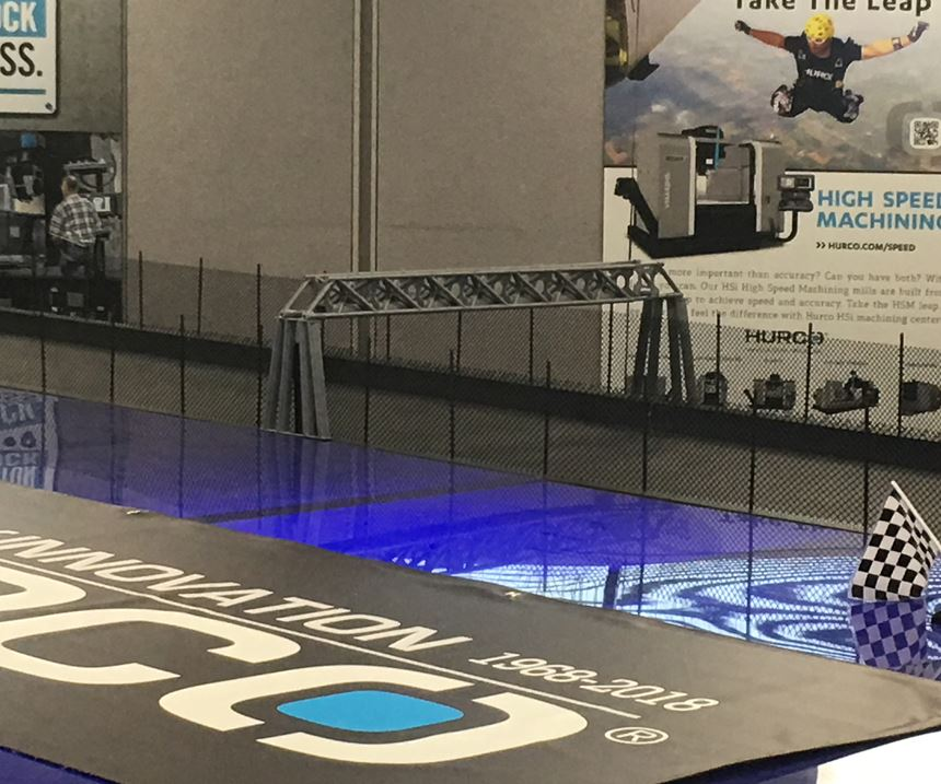 3D-printed finish line towers