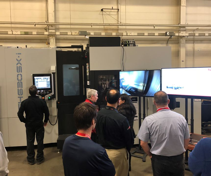 Machining demonstration of Tungaloy cutting tools at Toyoda Americas.