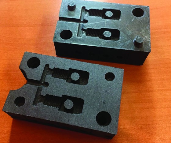 Two-cavity plastic composite mold