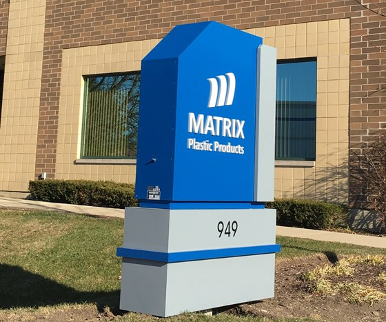 new Matrix Plastic Products sign