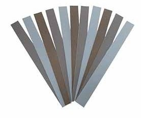 Boride PSA silicon carbide coated abrasive strips