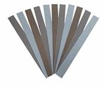 Boride PSA silicon carbide coated abrasive strips