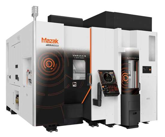 Mazak's Variaxis i-300 five-axis vertical machining center