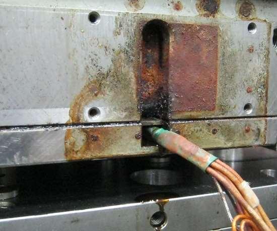 A mold leak