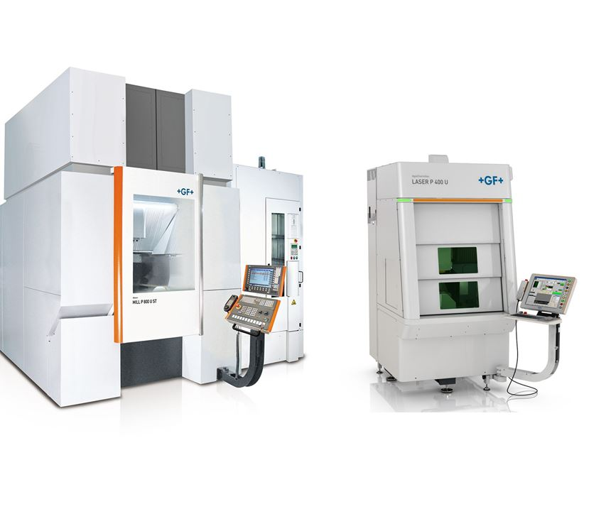 Mill P 800 and Laser P 400 machines from GF Machining Solutions