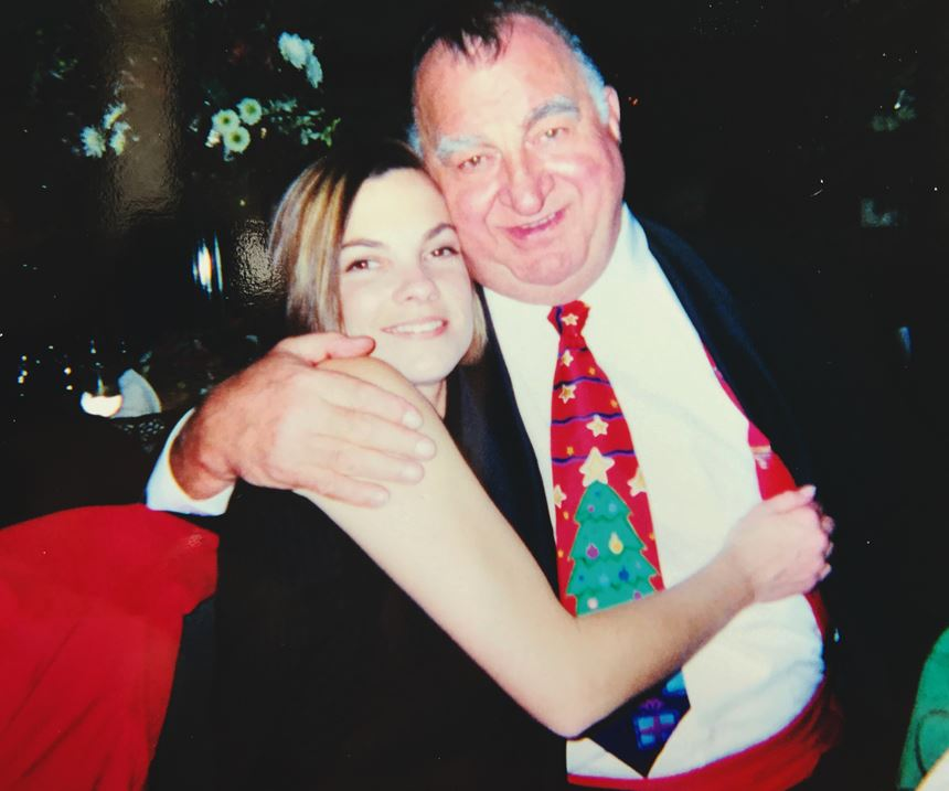 MoldMaking Technology's founding owner Joe Prischak (right) and Editorial Director Christina Fuges (left) in 1998.