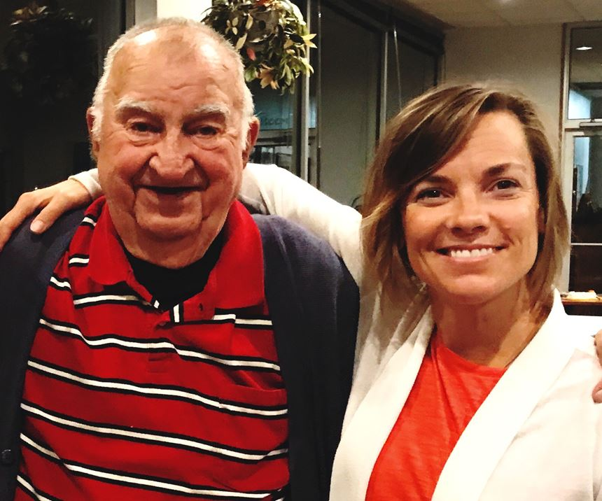 MoldMaking Technology's founding owner Joe Prischak (left) and Editorial Director Christina Fuges (right)