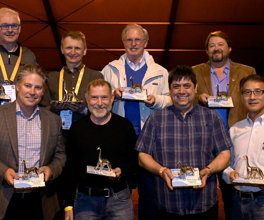 Eight recipients of the DINO award