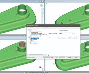 geometry optimization combine with injection molding simulation
