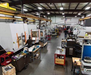 Shop-floor view at Maximum Mold 1 in Benton Harbor, Michigan