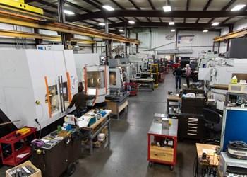 Shop-floor view at Maximum Mold 1 in Benton Harbor, Michigan