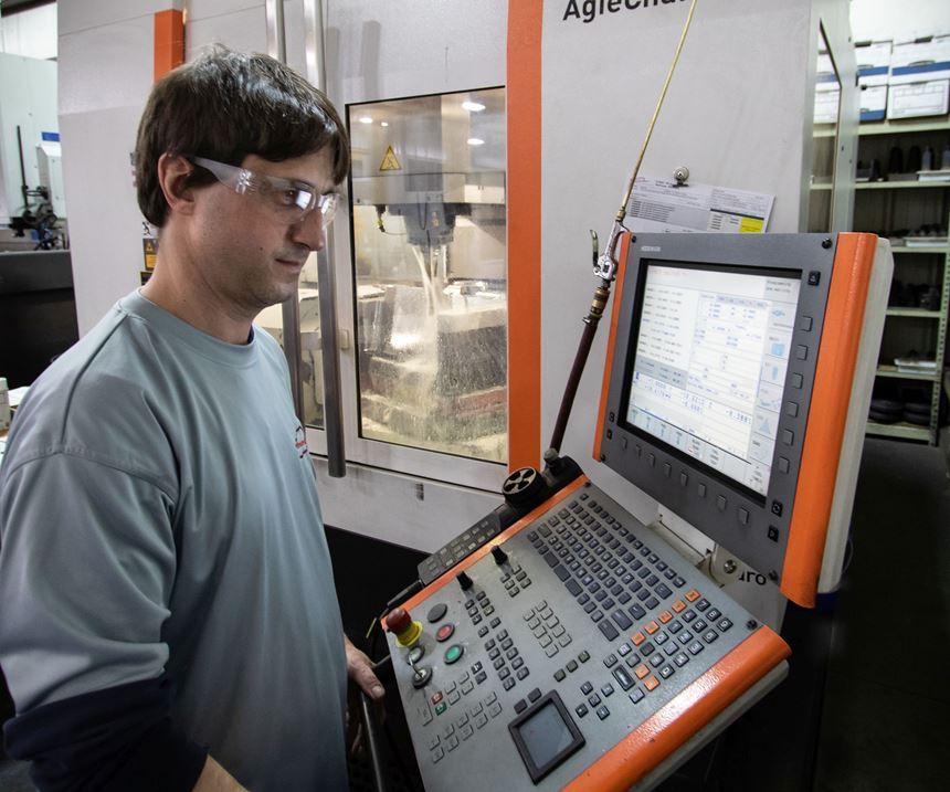 Five-axis machining at Maximum Mold Group in Benton Harbor, Michigan.