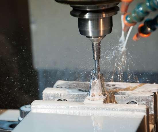 machining a core