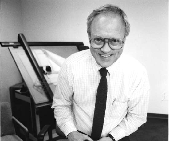 black and white image of Industrial Molds President Jack Peterson