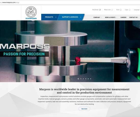Marposs home page