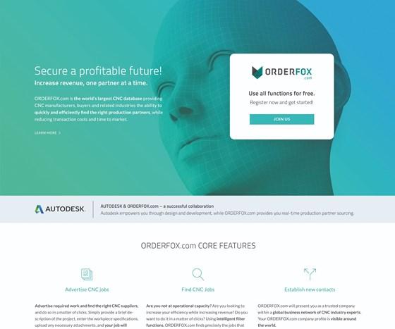 the orderfox.com landing page