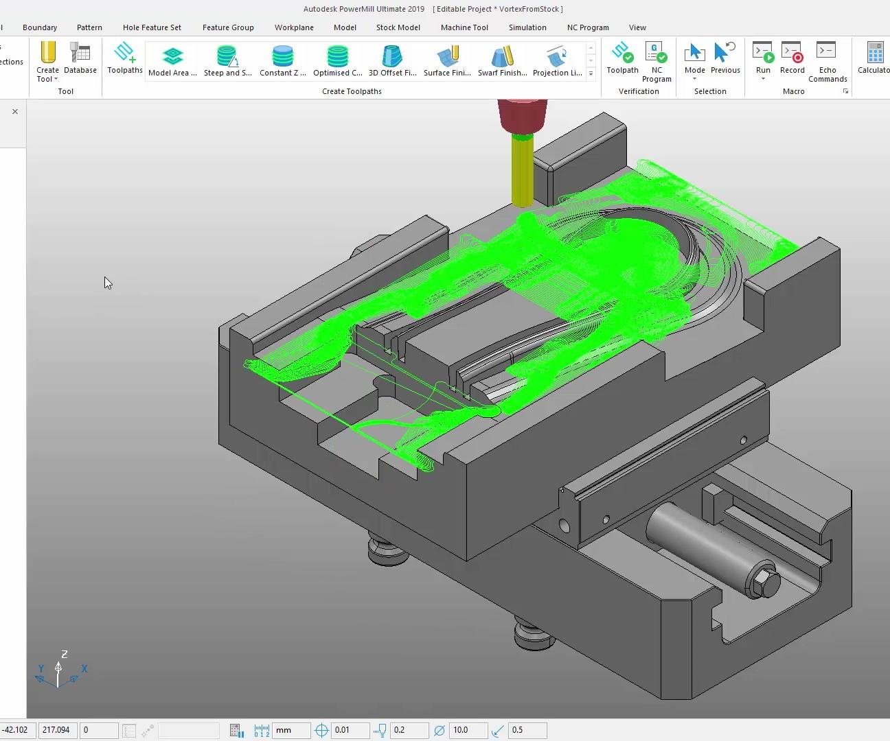 Autodesk PowerMill screenshot