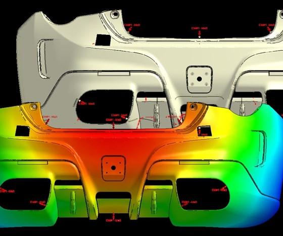 Moldex3D software simulation.