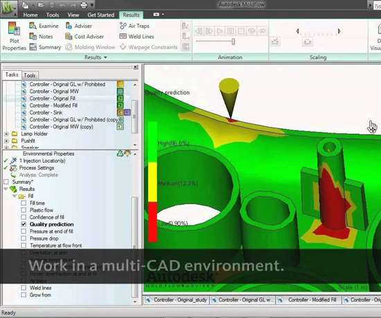 Autodesk Moldflow software screenshot