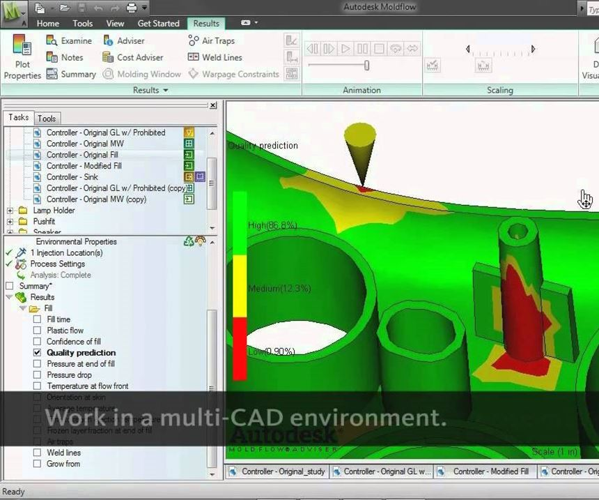 Autodesk Moldflow software screenshot
