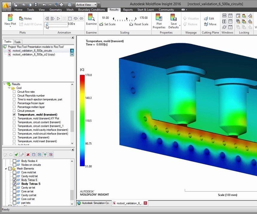 Autodesk Moldflow simulation software screenshot