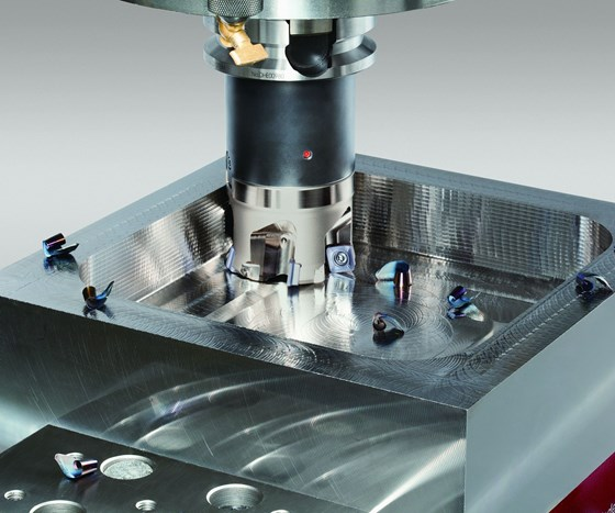 Tungaloy TungFeedQuad cutting tool for die and mold machining