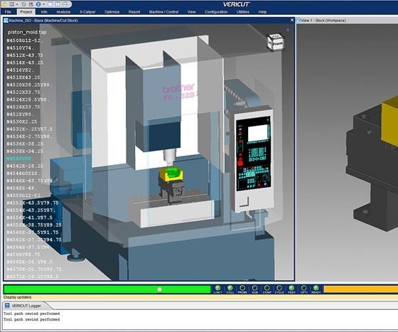 screenshot of Version 8.2 of CGTech's Vericut software