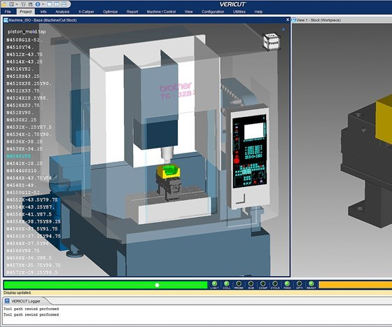 screenshot of Version 8.2 of CGTech's Vericut software