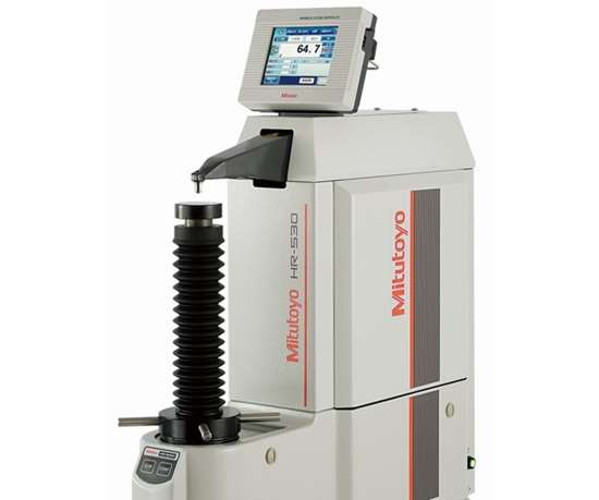 Mitutoyo's HR-530-series Rockwell hardness tester