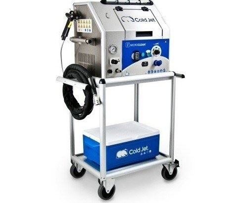 Cold Jet's i3 MicroClean dry ice blasting technology system