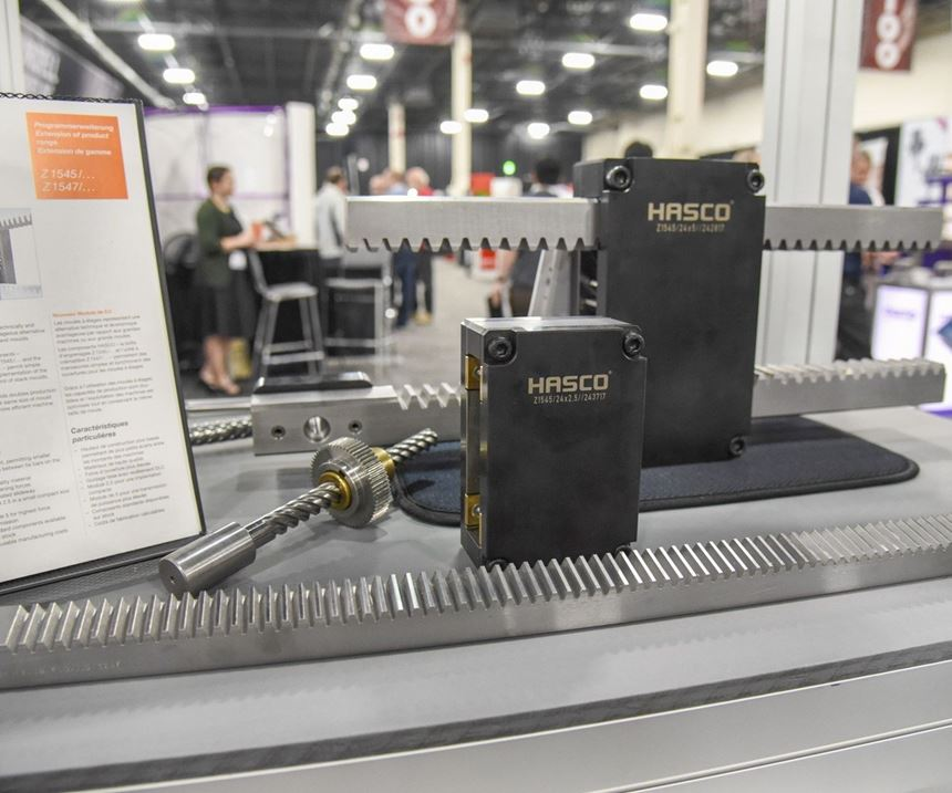Hasco Z1545 gear housing and Z1547 rack unit display at Amerimold 2018