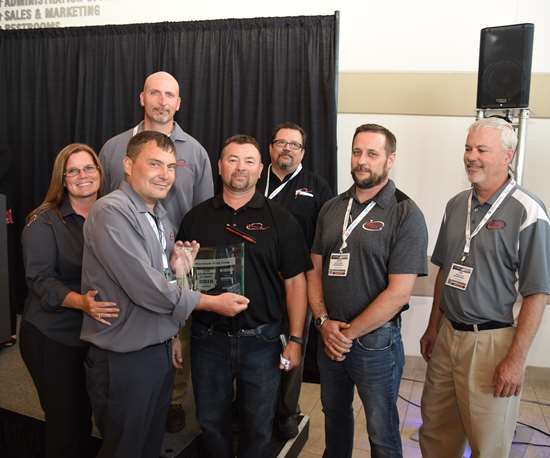 2018 Leadtime Leader Maximum Mold Group team at Amerimold 2018