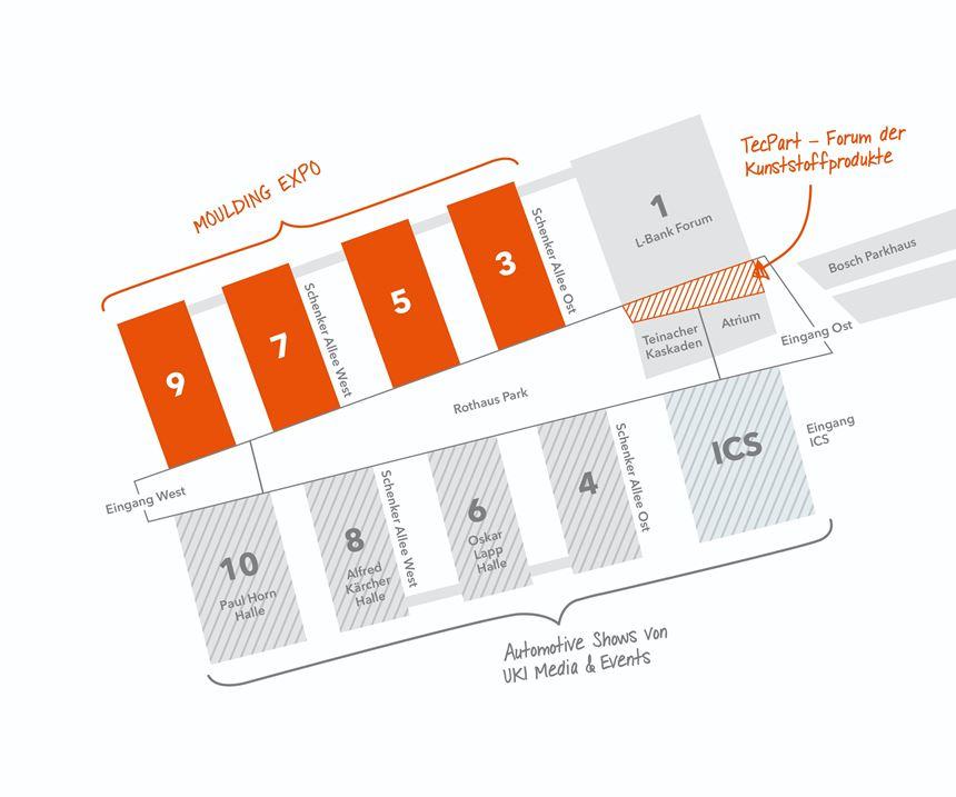 Molding Expo floor plan