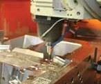 machine tool in action