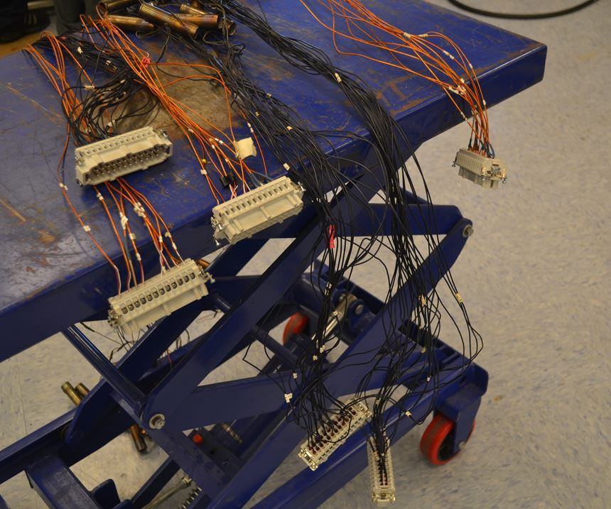 wires on cart