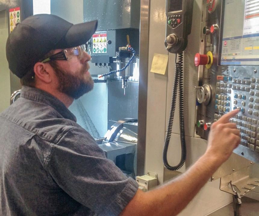 Shaun Mabe, apprentice at MSI Mold Builders