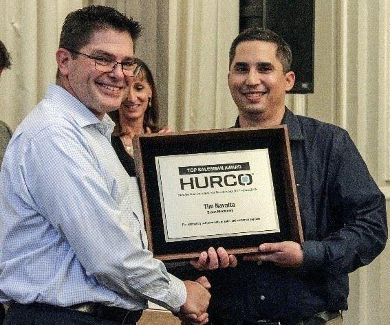 Top Hurco Sales Representative Award