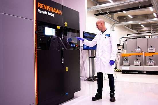Renishaw metal additive manufacturing