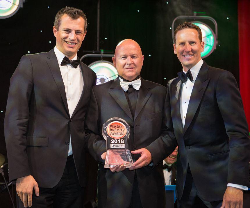 Brendan Cole presenting award to Richard Brown