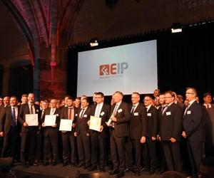 Award winners on stage