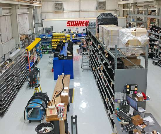 inside suhner facility
