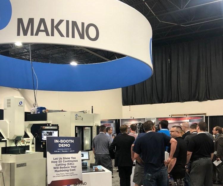 Makino booth at Amerimold 2018